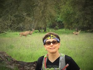 Enjoying nature and the deer at Ancil Hoffman Park, my own running Paradise.