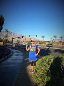 Enjoying the speed around Palm Springs, where I first discovered the power of interval training.