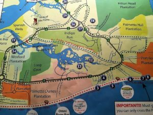 Map of Hilton Head Island and its trails